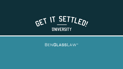 Find Out What Everyone Should Know Before Talking to the Adjuster, Hiring an Attorney, or Signing any Forms.<br />Register here for Get It Settled University - EXCLUSIVE WEBINAR!